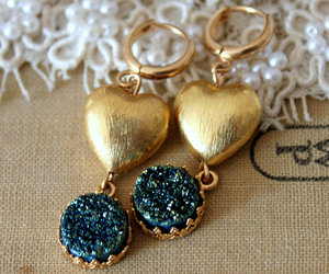 blue, high fashion, and heart image