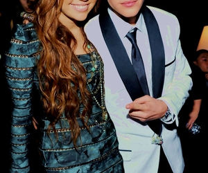 justin, miley cyrus, and justin bieber image