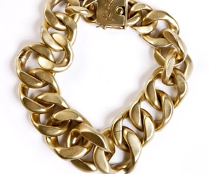 gold, YSL, and bracelet image