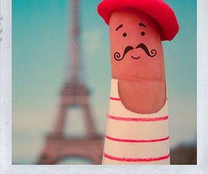 paris, fingers, and mustache image