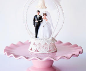 cake topper, pink, and vintage image