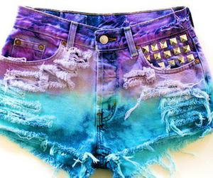 shorts, blue, and purple image