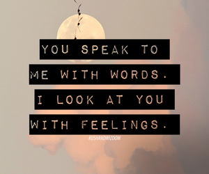 love, quote, and feelings image