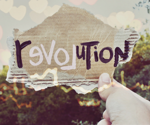 revolution, love, and text image