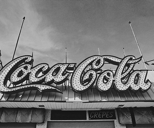 black and white, coco cola, and grunge image