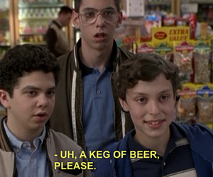 freaks and geeks, beer, and 90s image