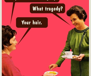 hair, funny, and tragedy image