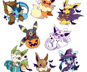 pokemon, Halloween, and eevee image
