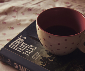 book, cup, and grimm image