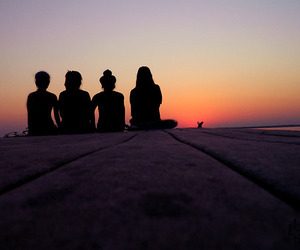 girls, people, and sky image