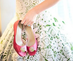 dress, shoes, and wedding image