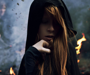beautiful, fire, and girl image