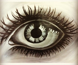 acrylic, art, and eye image