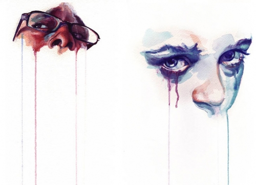 drip, tears, and watercolor image