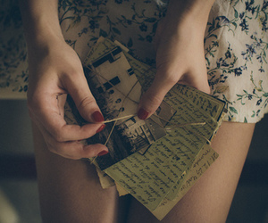 girl, photography, and letters image