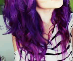 beautiful, pretty, and violet hair image
