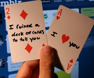 love, quote, and cards image