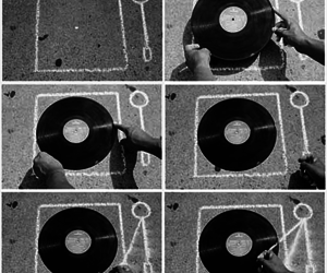 record, music, and black and white image