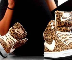 nike, shoes, and leopard image