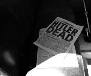 hitler, vintage, and newspaper image