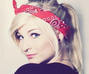 girl, piercing, and blonde image