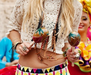 style, blonde, and hippie image