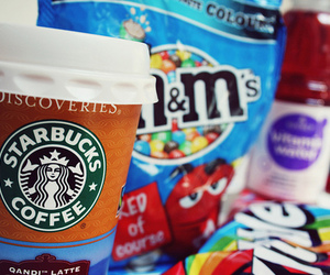 starbucks, candy, and food image