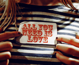 love, girl, and all you need is love image