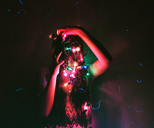 light, girl, and colorful image