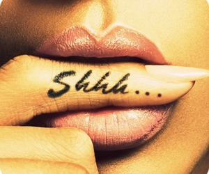 lips, shhh, and sexy image
