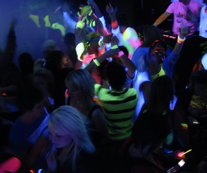 neon party and party tonight fiesta image