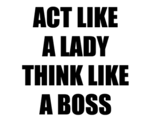 quote, boss, and lady image