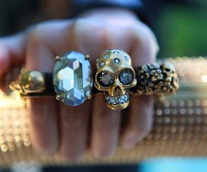 rings, skull, and diamond image
