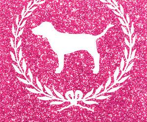 pink, wallpaper, and dog image