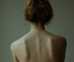 girl, pale, and back image