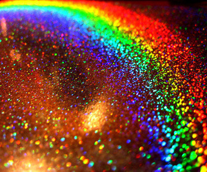 rainbow, glitter, and colors image