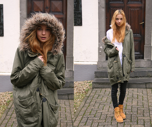 outfit and timberland image