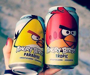 drink, paradise, and angry birds image