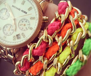 watch, bracelet, and Michael Kors image