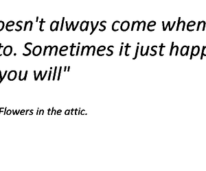 quote, flowers in the attic, and dollanganger image