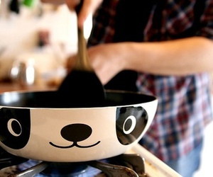 panda, cute, and cooking image