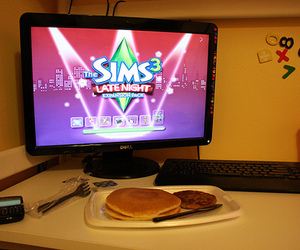 sims, the sims, and food image