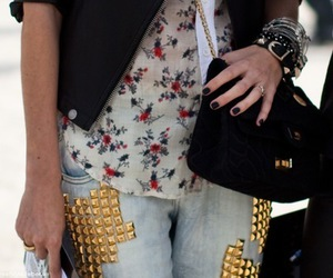 fashion, studs, and jeans image