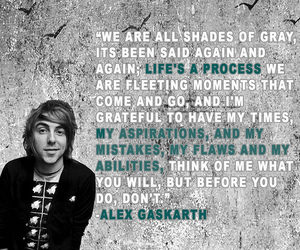 alex gaskarth, all time low, and quotes image