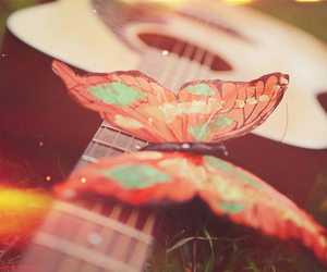 butterfly and guitar image