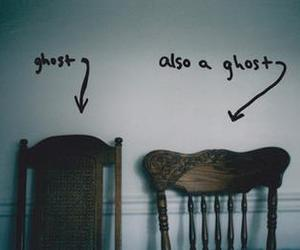 ghost, chair, and vintage image
