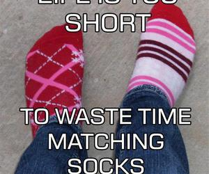 socks, life, and funny image