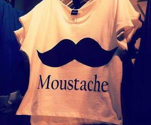moustache, t-shirt, and cool image