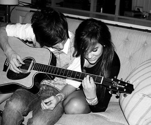 couple, guitar, and cute image