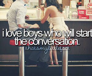 boy, love, and conversation image
